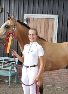 7e plaats Daphne Visscher op de Gallopade 2018